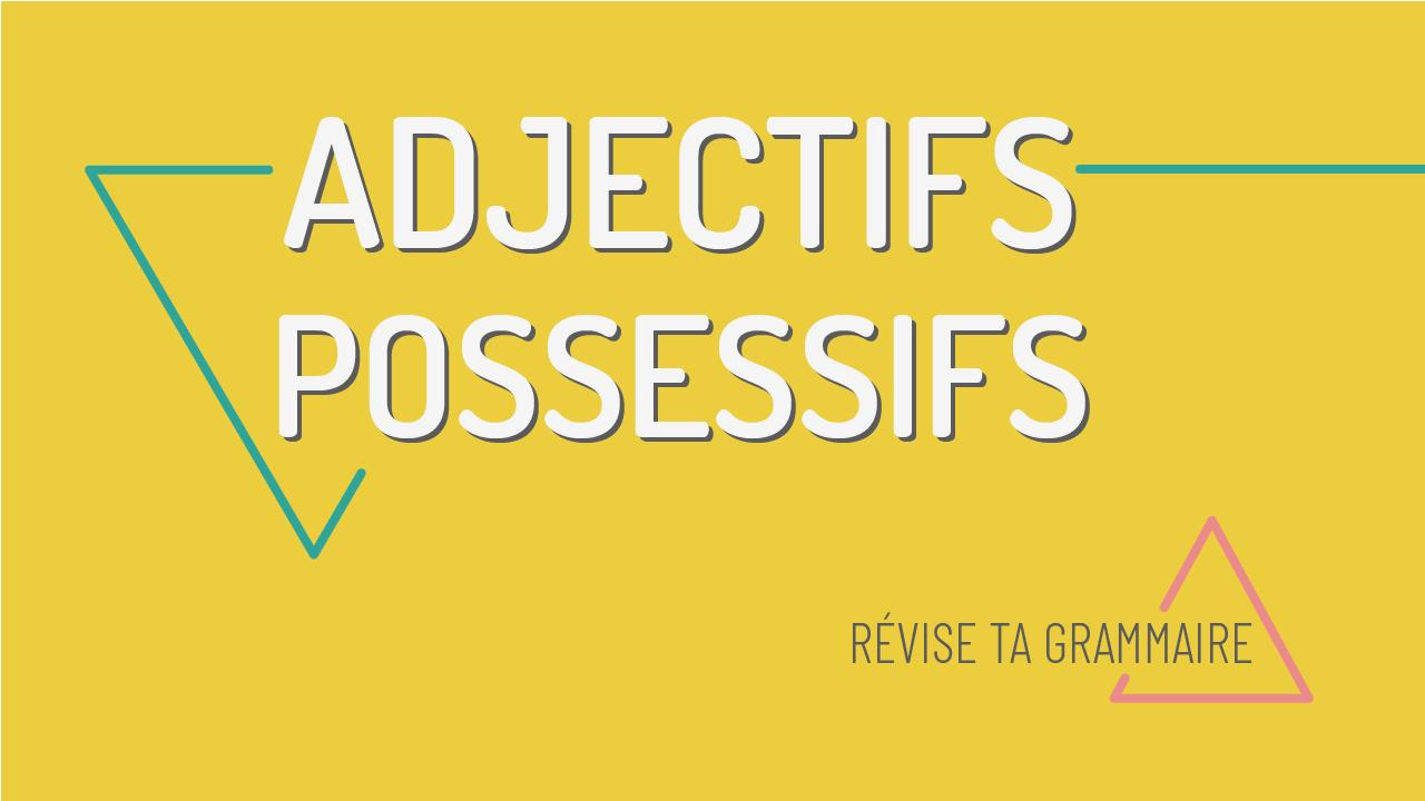 Les adjectifs possessifs : mon ma mes, etc.
