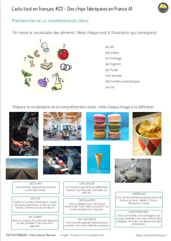 L'actu 23 : Des chips fabriquées en France 1