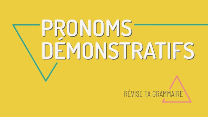 Les pronoms démonstratifs : celui, celle, ceux, etc.