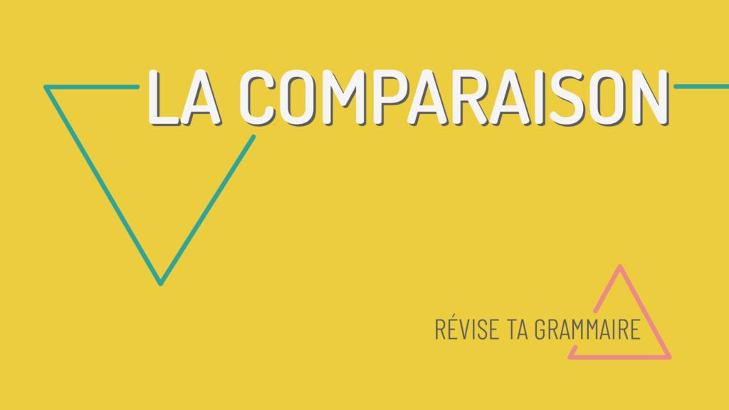 la comparaison en français